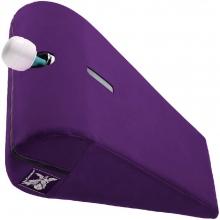 Подушка для любви с отверстием под массажер Liberator R-Axis Magic Wand баклажановый вельвет