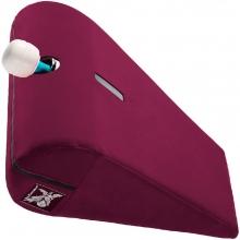 Подушка для любви с отверстием под массажер Liberator R-Axis Magic Wand рубиновый вельвет