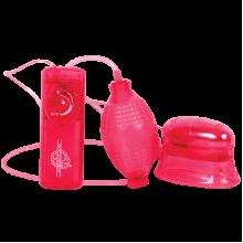 Помпа с вибрацией для клитора Pucker красная
