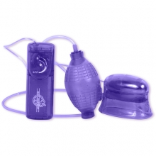 Помпа с вибрацией для клитора Pucker фиолетовая