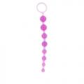 Анальная цепочка из 8 шариков Sexy Beads фиолетовая