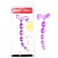 Анальная цепочка фиолетовая Brendy Twist