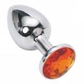 Мини-плаг из стали с кристаллом Silver Orange