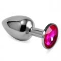 Мини-плаг из стали с кристаллом Rose