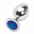 Стальная пробка Jewelry Plug Medium Silver синяя