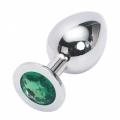 Стальная пробка Jewelry Plug Medium Silver зелёная