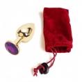 Анальное украшение Golden Plug Small фиолетовый