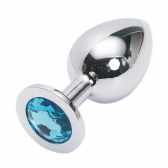 Стальная пробка Jewelry Plug Medium Silver голубая