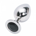 Стальная пробка Jewelry Plug Medium Silver чёрная