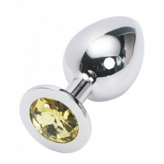 Стальная пробка Jewelry Plug Medium Silver жёлтая