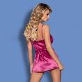 Розовая сорочка и трусики Satinia L/XL
