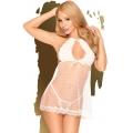 Сексуальный белый бэби-долл со стрингами Penthouse Libido Boost L/XL