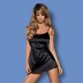 Черная сорочка и трусики Satinia L/XL
