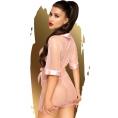 Прозрачный розовый халатик со стрингами Penthouse Midnight Mirage XL