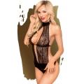 Сексуальное черное боди с глубоким вырезом Penthouse Perfect Lover L/XL