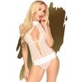 Сексуальное белое боди с глубоким вырезом Penthouse Perfect Lover L/XL