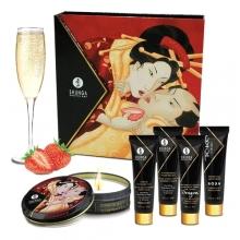 Эротический набор Shunga Geisha's Secret, клубника и шампанское