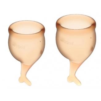 Набор менструальных чаш Satisfyer Feel Secure, оранжевый
