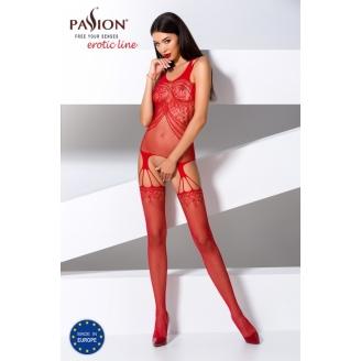 Сексуальный красный ажурный боди-комбинезон S/L