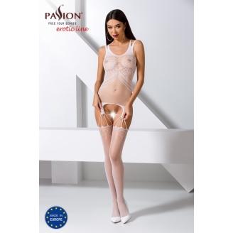 Сексуальный белый ажурный боди-комбинезон S/L