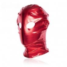 Красная блестящая маска с отверстиями под глаза