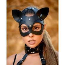 Маска Кошки из плотной натуральной кожи Lady's Arsenal Limited Edition