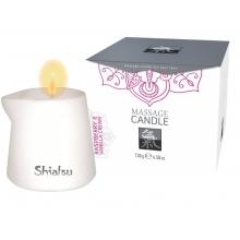 Массажная аромасвеча Shiatsu с ароматом малины и ванильного крема 130 гр