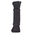 Черная хлопковая веревка 20 м для бондажа