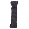 Черная хлопковая веревка 15 м для бондажа