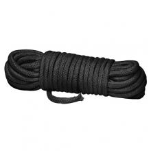 Бондажная нейлоновая веревка черная 10 метров