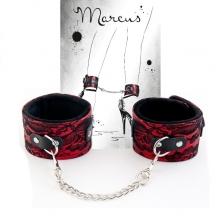 Поножи кружевные красные Marcus