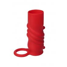 Мягкая силиконовая насадка красная