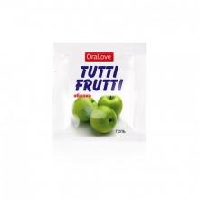 Съедобный лубрикант со вкусом яблока Tutti-Frutti OraLove 4 мл, пробник