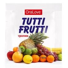 Съедобный лубрикант со вкусом тропик Tutti-Frutti OraLove 4 мл, пробник