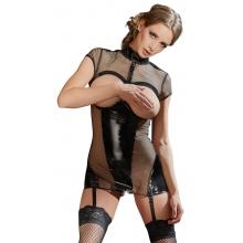 Платье из сетки с вырезами на груди M