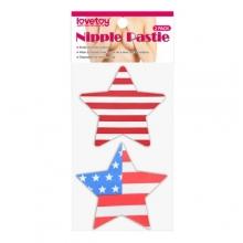 Набор патриотических пэстисов для груди Stars and Stripes Nipple Pasties