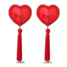 Пэстисы для груди d Heart Tassels Nipple Pasties