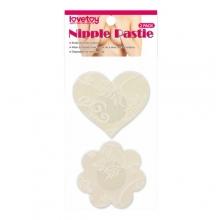 Набор нежных пэстисов для груди Lace Heart and Flower Nipple Pasties
