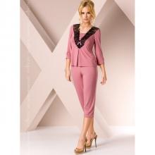 Ночная пижама розового цвета M