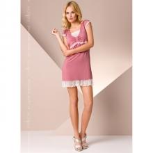 Розовая ночная рубашка L