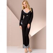 Ночная пижама черного цвета L