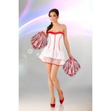 Белое платье Cheerleader L/XL