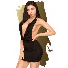 Черное мини-платье с глубоким вырезом Penthouse Heart Rob M/L