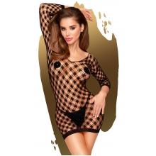 Эротическое черное мини-платье в сеточку Penthouse Passion Goddess XL