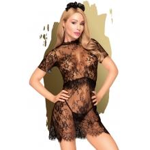Кружевное черное мини-платье со стрингами Penthouse Poison Cookie S/M