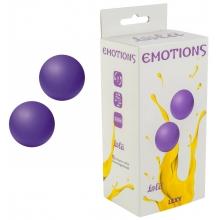 Вагинальные шарики без сцепки Emotions Lexy Large, фиолетовые