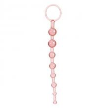 Анальная цепочка розовая