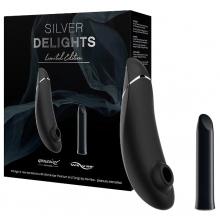 Набор стимуляторов Silver Delights Wonamizer Premium + We-Vibe Tango, серебристый