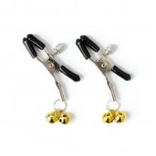 Зажимы для сосков с двойным бубенчиком желтые